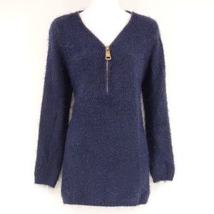 SIMPLY COUTURE Navy Blue Long Sleeve Sweater 